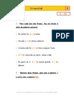 fichas de ortografia 3 e 4
