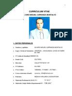 Curriculum Vitae - Hoja de Vida, Medicina Especializada, Medic, Doc, Doctor, Medicina, Piel Blanca, White Skin, Alvaro Miguel Carranza Montalvo