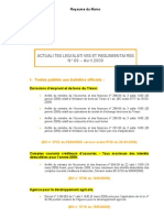Actualites Legislatives Et Reglementaires Avril 2009