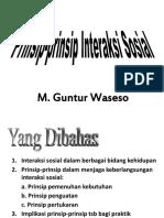 (5) Prinsip Interaksi Sosial