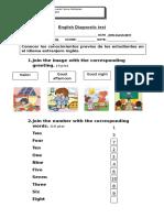 English Diagnostic Test