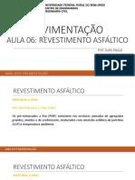 Aula 06 - Revestimento Asfáltico UFERSA