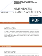 Aula 01 - Ligantes Asfálticos UFERSA