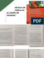"""""""La Enseñanza de La Matemática en El Jardín de Infantes"""""""