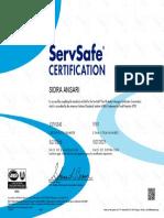 servesafe certification