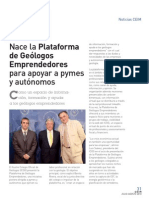 Plataforma de Geólogos-e - Revista CEIM JULIOAGOSTO2010