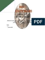 ROC CENTENARI (Sardana - Josep Loredo) - Portada, Score i Particel·Les