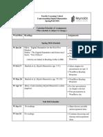 FLC Schedule