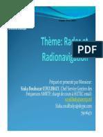 Présentation Radar Et Radionavigation 2015
