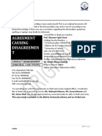 AGREEMENT CAUSING Disagreement Conflict Management(Original Case Study Along With Analysis and Options)