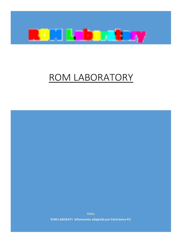 romlaboratoryv1-140815000306-phpapp02 pdf | Read Only Memory