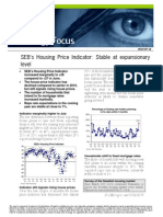 SEB's Housing Price Indicator slightly up in July