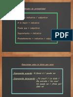 Grados de Probabilidad, Vocabulario de Los Medios