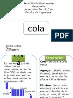 Algoritmo de Cola Presentación