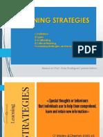 Week 3 Prof. Aldo Rodríguez Learning Strategies