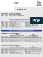 Schedule and Organization AISMUN 2017