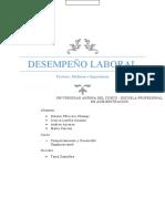 DESEMPEÑO LABORAL MONOGRAFÍA