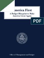 První rozpočet Donalda Trumpa