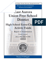 East Aurora Audit on Extra Curricular Classes