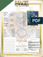 Mago a Ascensão - Ficha c Tabela e Carta