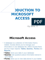Introduction of MS-Access