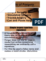 Kinds of Forgery