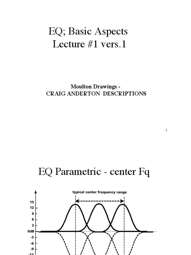EQ Presentation pdf   Equalization (Audio)   Electronics