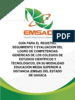 Guía para el registro seguimiento y evaluación del logro de competencias genéricas EMSaD Junta Directiva.pdf