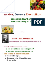 Acidos, Bases y Electrolitos