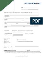 Ficha Inscripcion Diplomado