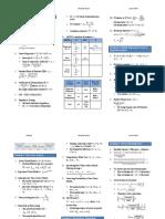 CFA Level 2, June, 2017 - Formula Sheet