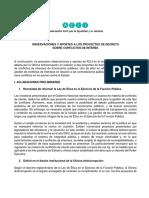 ACIJ - Aportes Para El Fortalecimiento Del Régimen de Gestión de Conflictos de Intereses