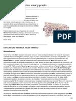 Especificidad Histórica Valor Yprecio