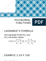 Polynomial Functions (1)