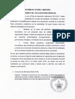 Informe 2016 Tutorías
