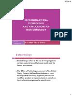 BIO149 RDNA Tech & Applications of Biotechnology