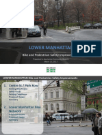 NYC DOT Park Row Centre Street Bike Lane Redesign Presentation