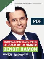 Le projet présidentiel de Benoît Hamon