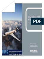 Enabling PLM at Bombardier - PLM12 Presentation