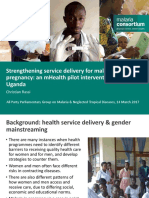 Strengthening service delivery for malaria in pregnancy