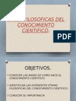 Bases Filosoficas Del Conocimiento Cientifico. Clase 2