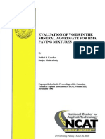 Evaluation of Voids in Mineral Aggregate for Hot Mix Asphalt