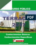 APOSTILA TERRACAP 2017 TÉCNICO ADMINISTRATIVO + VÍDEO AULAS