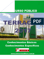 APOSTILA TERRACAP 2017 TÉCNICO EM FISCALIZAÇÃO + VÍDEO AULAS