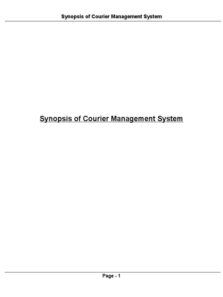 Synopsis Of Courier Management System ModelViewController - Courier invoice format excel best online wine store