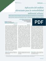 Aplicación Del Análisis Multivariante Para La Sostenibilidad Ambiental Urbana - Loraine Giraud y Gioberti Morantes