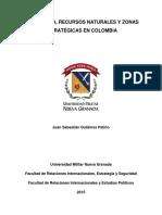 Geopolitica, Recursos Naturales y Zonas Estrategicas en Colombia