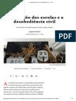 A Ocupação Das Escolas e a Desobediência Civil - JOTA