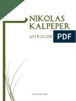 Nikolas Kalpeper - Astrološki Opus