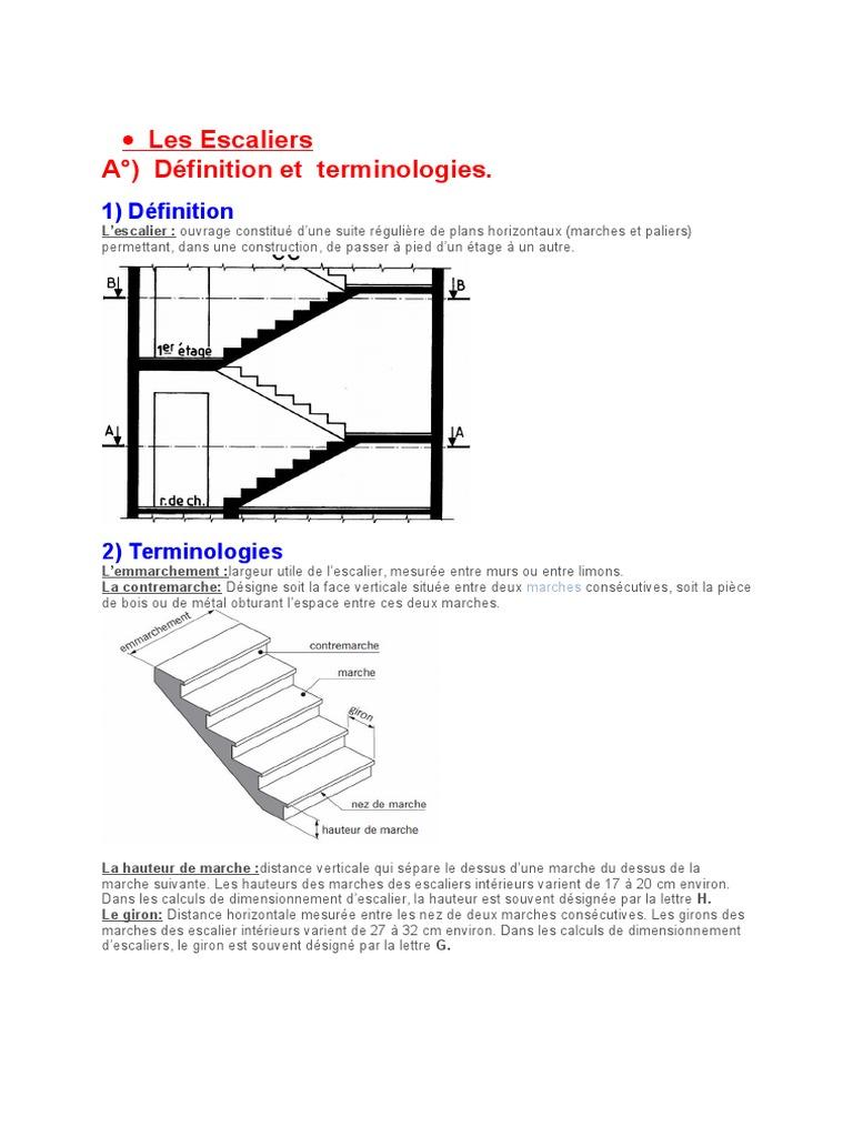 Escalier Bois Entre Deux Murs dimensionnement escalier | escaliers | bâtiment (construction)